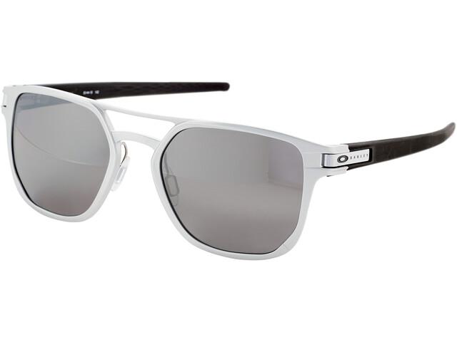 Oakley Latch Alpha Brillenglas Heren, matte silver/prizm black polarized